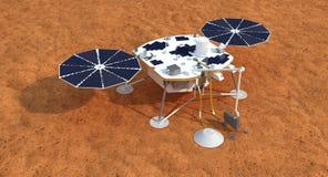Vagabundo de Marte de la curiosidad Imagenes de archivo