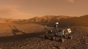 Vagabundo del descubrimiento de la NASA Marte stock de ilustración