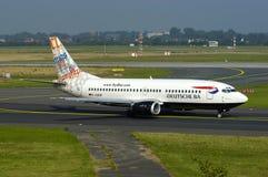 VAGABUNDOS Boeing 737 de Deutsche Foto de Stock Royalty Free