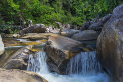 Vagabundos da cachoeira Ho em Vietname Imagem de Stock