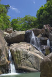 Vagabundos Ho Waterfalls em Vietname Foto de Stock