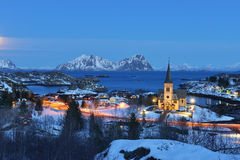 Vagan Church Lofotkatedralen, Nordland County, Norway Stock Photos