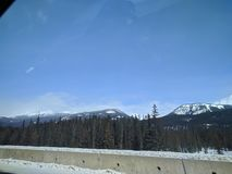 Vagando por alrededor de Banff, Alberta, Calgary en invierno imágenes de archivo libres de regalías