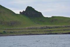 Vagar ö i Faroeen Island royaltyfri fotografi