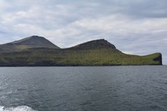 Vagar ö i Faroeen Island arkivfoto