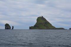 Vagar ö i Faroeen Island fotografering för bildbyråer