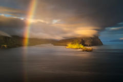 Tindholmur rainbow Royalty Free Stock Photo