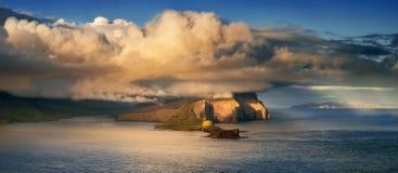 Vagar unter Wolken Lizenzfreies Stockfoto