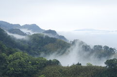 Vagaries of fog and mountains. Royalty Free Stock Photography