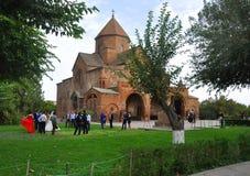 VAGASHAPAT, АРМЕНИЯ - 13-ОЕ ОКТЯБРЯ 2016: Wedding около St Gayane Стоковые Фотографии RF