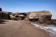 Vagator Beach in North Goa, face of Shiva Royalty Free Stock Photography