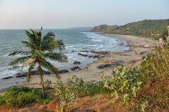 Vagator plaża w Goa obraz royalty free