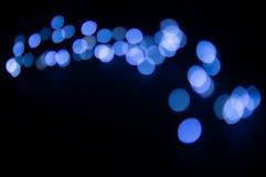 Vage achtergrond met blauwe gloed in boogvorm stock afbeeldingen
