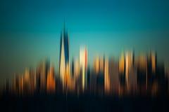 Vage de Stadsachtergrond van New York Royalty-vrije Stock Afbeeldingen