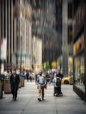 Vage de straatscène van Manhattan stock foto's