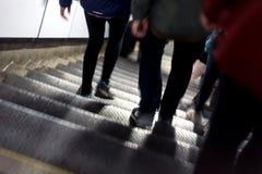 Vage Forenzen die de Ondergrondse Trein van Londen met behulp van Stock Fotografie