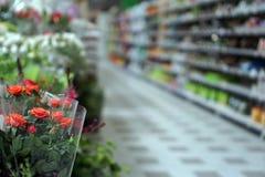 vage foto van een bloemafdeling in Italië stock afbeeldingen