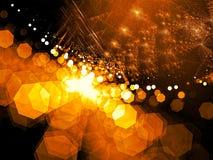 Vage fractal achtergrond - abstract digitaal geproduceerd beeld Royalty-vrije Stock Foto's