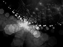 Vage fractal achtergrond - abstract digitaal geproduceerd beeld Stock Afbeelding