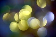 Vage gouden blauwe lichten in pastelkleur kleurrijke tinten, achtergrond, bokeh Stock Fotografie
