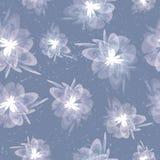 Vage grungy uitstekende bloemen grijze naadloze achtergrond Royalty-vrije Stock Afbeeldingen