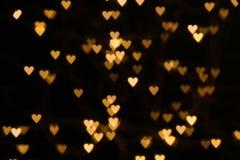 Vage hart gestalte gegeven lichten stock foto's