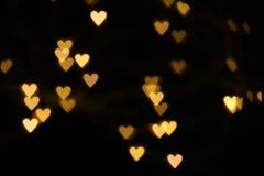 Vage hart gestalte gegeven lichten stock fotografie
