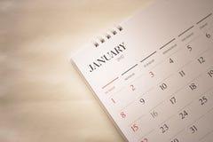 Vage kalenderpagina Stock Foto
