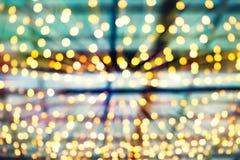 Vage kleurrijke bokehlichten stock afbeeldingen