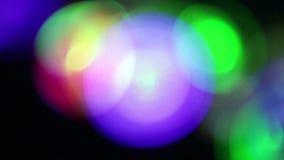 Vage kleurrijke lichten stock videobeelden