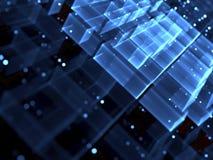 Vage kubussen - abstract digitaal geproduceerd beeld Stock Afbeeldingen