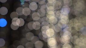 Vage lichten, stadslichten 4 stock video