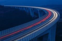 Vage lichten van voertuigen stock afbeeldingen