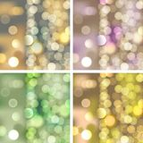 Vage lichtenachtergronden Royalty-vrije Stock Foto's