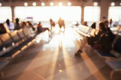 Vage luchthavenachtergrond royalty-vrije stock fotografie