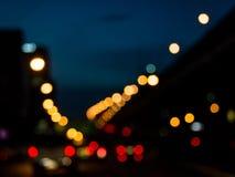 Vage nachtweg in de stad Royalty-vrije Stock Fotografie