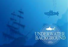 Vage onderwaterachtergrond Stock Afbeelding