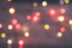 Vage rode en gele lichten stock foto