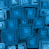Vage textuur van blauw vierkantenlicht, een abstractie voor een achtergrond 3D illusie van zacht licht vector illustratie