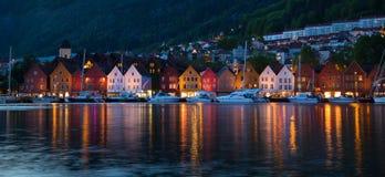 Vagen hamn i Bergen, Norge Royaltyfri Fotografi