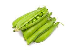 Vagens de ervilhas verdes frescas Imagens de Stock