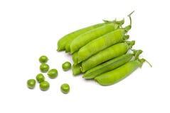 Vagens de ervilhas verdes frescas Fotografia de Stock