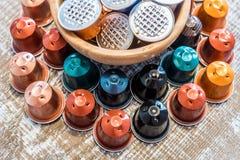 Vagens usadas do café Imagens de Stock