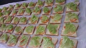 Vagetable三明治 免版税库存图片