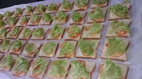 Vagetable sandwich Royalty Free Stock Image