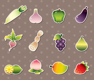 Vagetable stickers Royalty Free Stock Photos