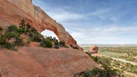 Vagga bågen i bågar nationalparken, Utah arkivbilder