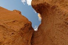 Vagga bildande, den naturliga brokanjonen, den Death Valley nationalparken arkivfoton