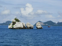 Vagga bildande i Ang Thong National Marine Park, Thailand Arkivbild