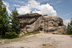 Vaggar på Kyrkawica på Beskydy Mts. Arkivfoto